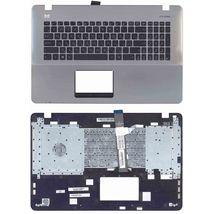 Клавиатура Asus (X751) Black, с топ панелью (Black-Silver), RU