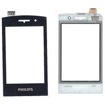 Тачскрин (Сенсорное стекло) для смартфона Philips Xenium W727 черный