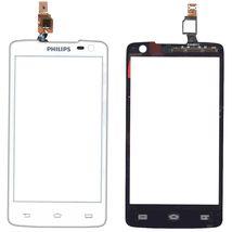 Тачскрин (Сенсорное стекло) для смартфона Philips Xenium W732 белый