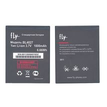 Оригинальная аккумуляторная батарея для смартфона Fly BL4027 IQ4410 Phoenix 3.7V Black 1800mAh 6.66Wh