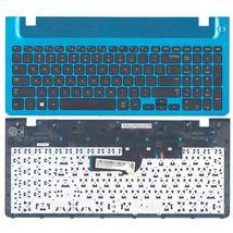 Клавиатура Samsung (355V5C) Black, с топ панелью (Blue), RU