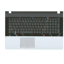 Клавиатура Samsung (NP305E7A) Black, с топ панелью (Silver), RU