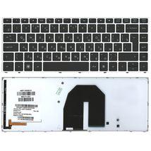 Клавиатура HP ProBook (5330M) с подсветкой (Light), Black, (Silver Frame) RU