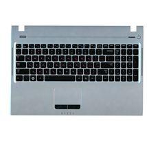 Клавиатура Samsung (Q530) Black, с топ панелью (Silver), RU