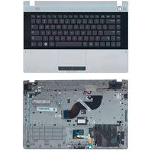 Клавиатура Samsung (RV420) Black, с топ панелью (Gray), RU