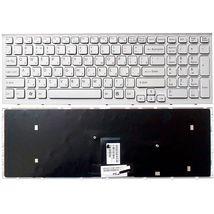 Клавиатура Sony Vaio (VPC-EB) White, (White Frame) RU