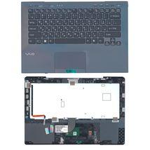 Клавиатура Sony Vaio (VPC-SB) Black, с топ панелью Black, RU (for fingerprint reader)