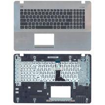 Клавиатура Asus (X750LN) Black, с топ панелью (Silver) RU
