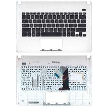 Клавиатура Asus (X301A) Black, с топ панелью (White), RU