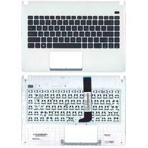 Клавиатура Asus (X401U) Black, с топ панелью (White), RU
