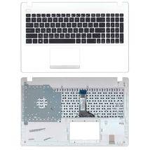Клавиатура Asus (X551) Black, с топ панелью (White), RU