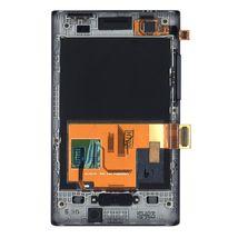 Матрица с тачскрином (модуль) для LG Optimus L3 E400 с рамкой черный