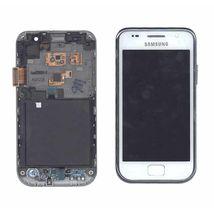 Матрица с тачскрином (модуль) для Samsung Galaxy S GT-I9000 белый с рамкой