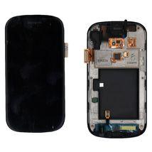 Матрица с тачскрином (модуль) для Samsung Nexus S I9020 черный с рамкой