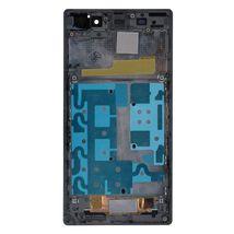 Матрица с тачскрином (модуль) для Sony Xperia Z1 C6902 черный с рамкой