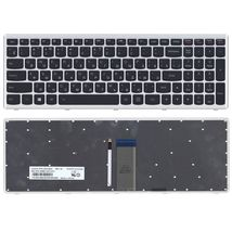 Клавиатура Lenovo IdeaPad U510, Z710 с подсветкой (Light), Black, (Silver Frame), RU