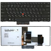 Клавиатура Lenovo ThinkPad (X1) с подсветкой (Light), с указателем (Point Stick) Black, Black Frame, RU