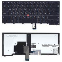 Клавиатура Lenovo ThinkPad Edge (T440, T440P, T440S), с указателем (Point Stick) Black, Black Frame, RU