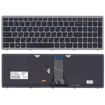 Клавиатура Lenovo IdeaPad (G505S, Z510) с подсветкой (Light), Black, (Silver Frame), RU