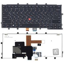 Клавиатура Lenovo ThinkPad (X240, X240S, X240I)  с подсветкой (Light), с указателем (Point Stick) Black, Black Frame, RU