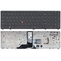 Клавиатура HP Elitebook (8760W) с указателем (Point Stick), Black, (Black Frame) RU