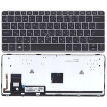 Клавиатура HP Elitebook (725 G2) с указателем (Point Stick), Black, (Gray Frame) RU