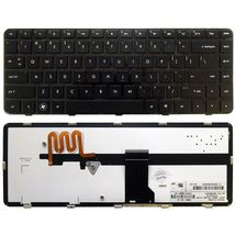 Клавиатура HP Pavilion (DM4) с подсветкой (Light), Black, (Black Frame) RU