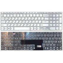 Клавиатура Sony (FIT 15, SVF15) с подсветкой (Light), White, (No Frame) RU