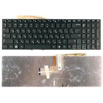Клавиатура Samsung (RF712) с подсветкой (Light), Black, (No Frame), RU