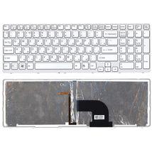 Клавиатура Sony Vaio (SVE15) с подсветкой (Light), White, (White Frame) RU