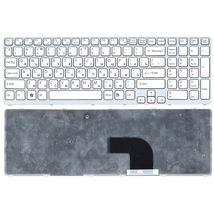 Клавиатура Sony Vaio (SVE17) White, (White Frame) RU