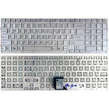 Клавиатура Sony Vaio (VPC-CB17, VPC-CB) Silver, (No Frame) RU