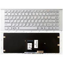 Клавиатура Sony Vaio (VPC-EA) White, (White Frame) RU