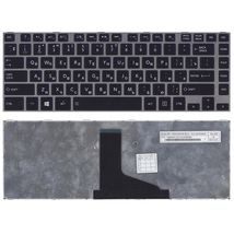 Клавиатура Toshiba Satellite (L800, L830) Black, (Gray Frame) RU