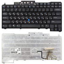 Клавиатура Dell Latitude (D620, D630, D820, D830) с указателем (Point Stick), Black, RU