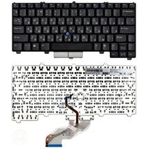 Клавиатура Dell Latitude (D410) с указателем (Point Stick), Black, RU