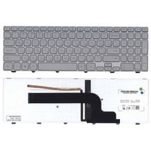 Клавиатура Dell Inspiron (15-7000, 7537) с подсветкой (Light), Silver, (Silver Frame) RU