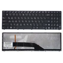 Клавиатура Asus (K50, K60, K70) с подсветкой (Light), Black, (Black Frame) RU