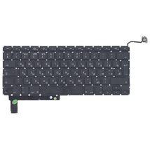Клавиатура для ноутбука для ноутбука Apple MacBook Pro (A1286) (2011, 2012 года) с подсветкой (Light), Black, (No Frame), с (SD), RU (вертикальный энтер)