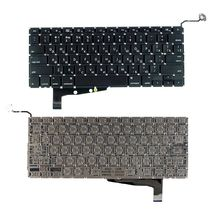 Клавиатура Apple MacBook Pro (A1286) с подсветкой (Light), Black, (No Frame), без (SD), RU (горизонтальный энтер)