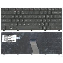 Клавиатура для ноутбука Acer eMachines D725, Packpard Bell Eastynote NJ31, NJ32, NJ65, NJ66 Black, длинный шлейф (Long Trail), RU (версия Packpard Bell)