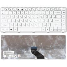 Клавиатура для ноутбука Packard Bell EasyNote NM85, NM87 Acer Aspire 3410, 3810, 3820, 4230, 4240, 4250, 4410, 4530, 4540, 4551, 4553, 4560, 4625, 4736, 4740, 4741, 4810, 4820.  eMachines D440, D442, D528, D640, D730 White, RU
