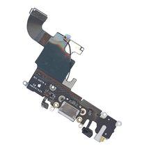 Шлейф разъема питания с аудио-разъемом Apple iPhone 6S серый