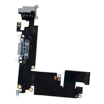 Шлейф разъема питания с аудио-разъемом Apple iPhone 6 Plus серый