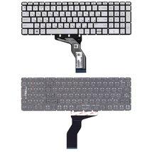 Клавиатура для ноутбука HP (15-BW 250 G6) Silver с подсветкой (Light), (No Frame) RU