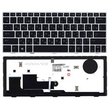 Клавиатура HP EliteBook Revolve (810 G1) с подсветкой (Light), с указателем (Point Stick), Black, (Silver Frame) RU