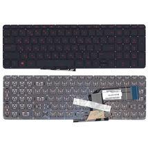 Клавиатура HP Pavilion (15-P, 17-F) Black с красной подсветкой (Red Light), (No Frame) RU