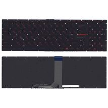 Клавиатура MSI (GT72, GS60, GS70, GP62, GL72, GE72) Black с красной подсветкой (Red Light), RU