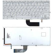 Клавиатура Sony Vaio (VPC-SD, VPC-SB) Silver с подсветкой (Light), (Silver Frame) RU