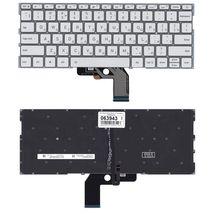 Клавиатура для ноутбука Xiaomi Mi Air (13.3) Silver с подсветкой (Light), (No Frame) RU